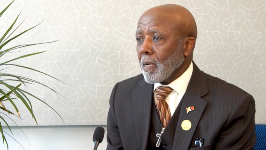 Dennis Powell, Head of the Berkshire County NAACP, received an award from the Berkshires Nonprofit Center