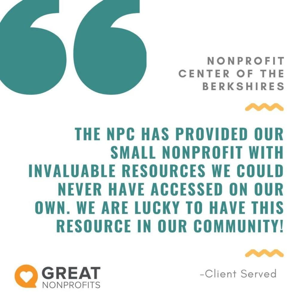 A graphic from the Nonprofit Awards of the Berkshires