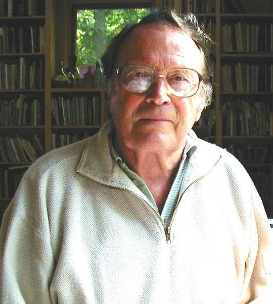 A photo of the poet Richard Wilbur.