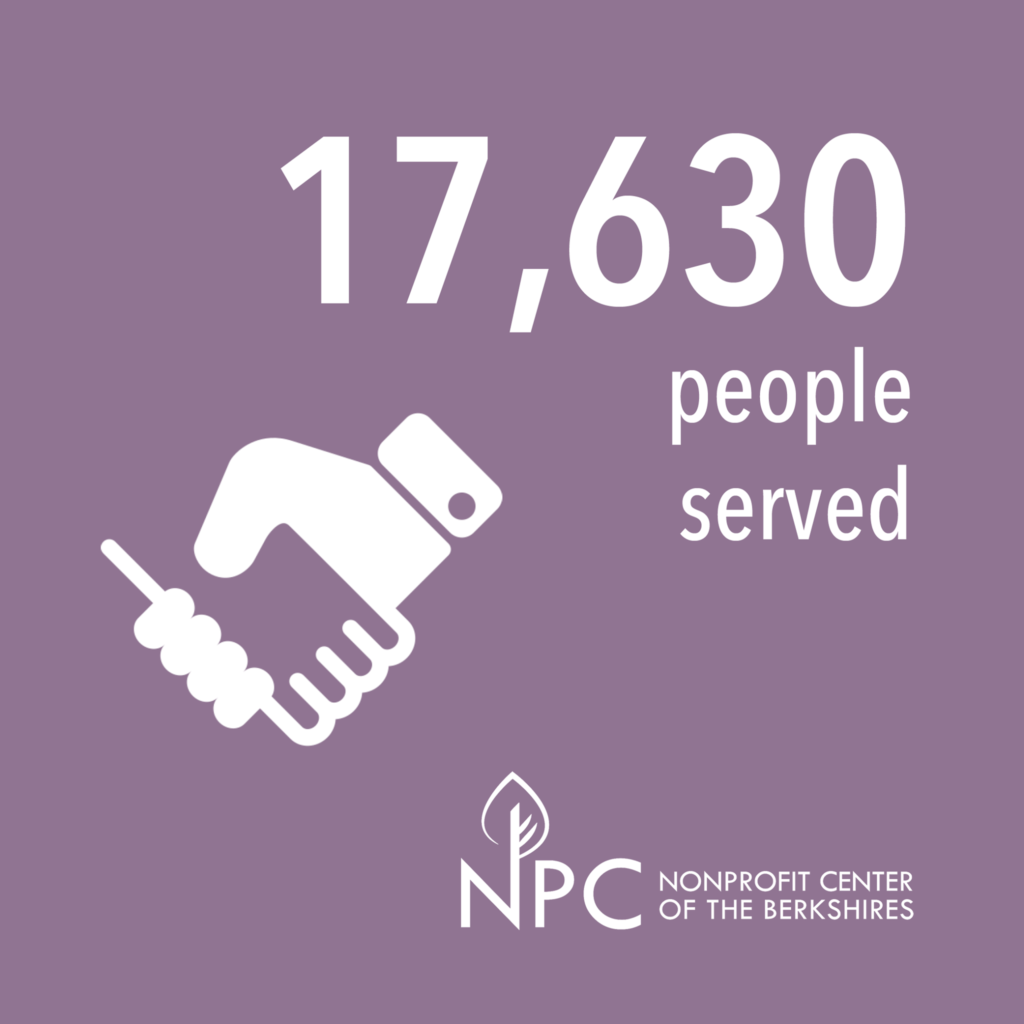 A graph showing how many people have been served by the Berkshires Nonprofit Center
