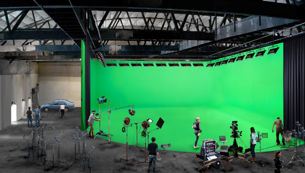 What a green screen will look like at Kemble Street Studios