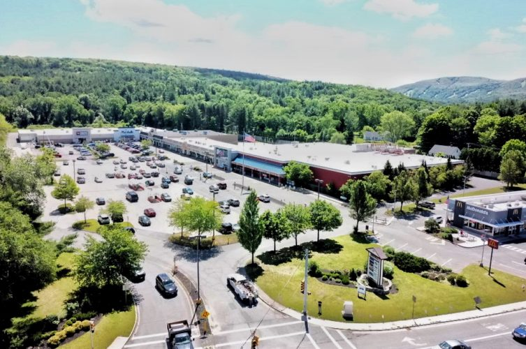 Barrington Plaza aerial shot