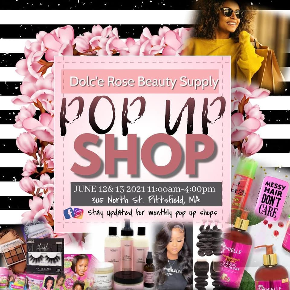 A Facebook ad for the pop-up store selling beauty products for women of color.