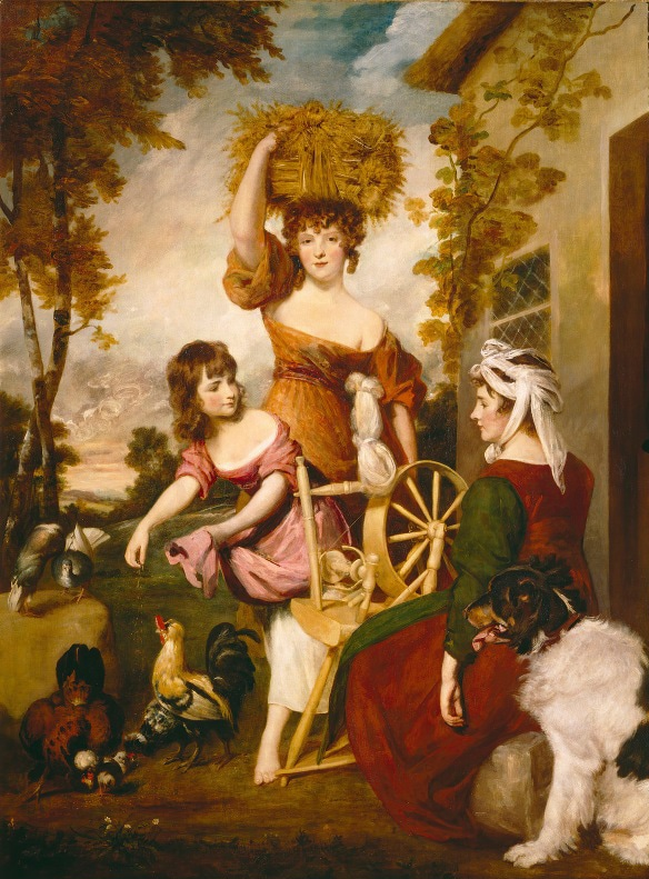 """A pianting of """"The Cottagers"""" by Sir Joshua Reynolds"""