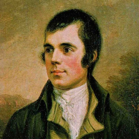 Painting of the poet Robert Burns